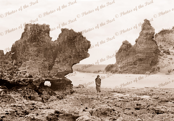 The Bluff, Aireys Inlet, Vic.c1920s. Victoria. Great Ocean Road