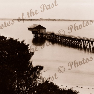 The Pier, Point Lonsdale, Vic.Victoria. Jetty. c1940s.