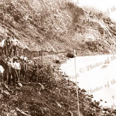 Constructing the Great Ocean Road, Vic.1920s. Victoria.