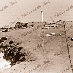 Split Point lighthouse, Aireys Inlet. Vic. Aerial view 1937. Victoria. Great Ocean Road