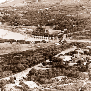 Aerial view of Anglesea, Vic.1937. Victoria. Great Ocean Road.