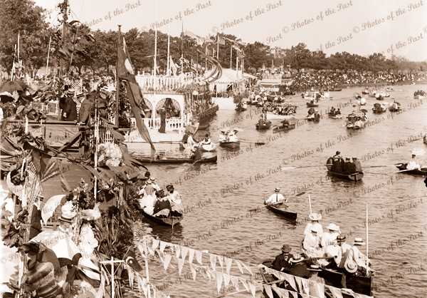 Henley on the Yarra, Melbourne. Vic. c1910s. Victoria. Boating