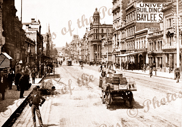 Collins Street, Melbourne.Vic. c1890s. Victoria. Horse and carriage.