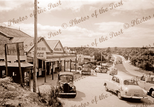 The General Store and Post Office, Anglesea, Vic. c1950s. Victoria. Great Ocean Road.