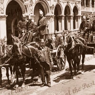 Fire Brigade Melbourne, Vic. c1903. Horses. Victoria.