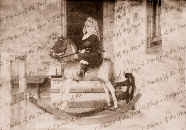 Archibald Grundy on his Rocking Horse at Second Valley, SA. South Australia. Finnis Vale. c1890