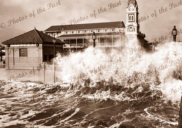 Glenelg storm. SA. 11 April 1948. South Australia. Ocean