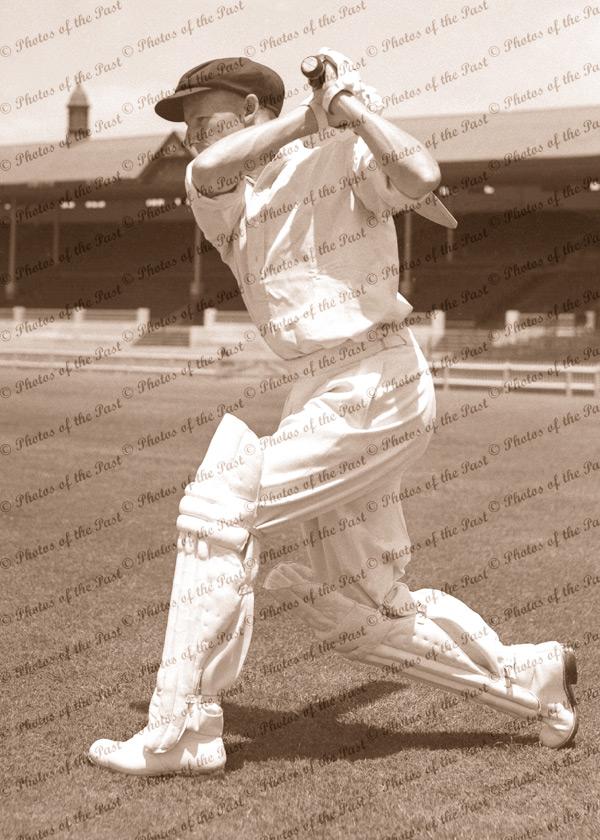 Don Bradman - cover drive. Australian cricketer c1936