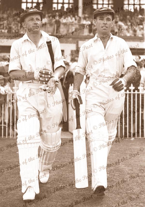 Don Bradman & Fingleton at MCG, Jan 1937. Melbourne Cricket Ground