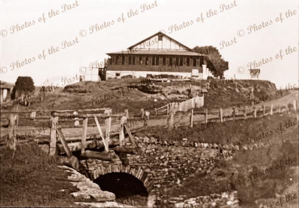 View across bridge to Jetty House Second Valley, SA. c1930s South Australia.
