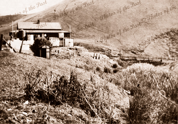 Jetty House looking south. Bridge on right. Second Valley, SA c1930s South Australia