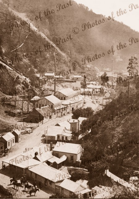 Gold mining town of Walhalla, Vic.c1900. Victoria.