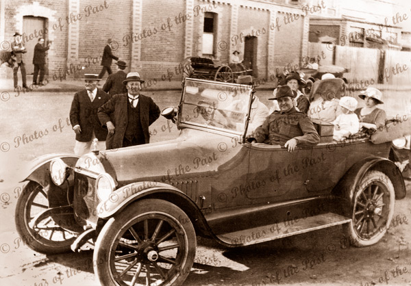 Taxi at Geelong Railway Station. Travelled Geelong to Lorne Vic. c1920s. Victoria. Car. Great Ocean Road