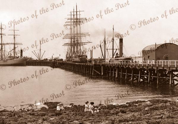 Shipping, Wallaroo, SA (with SS INVESTIGATOR) c1890s, South Australia