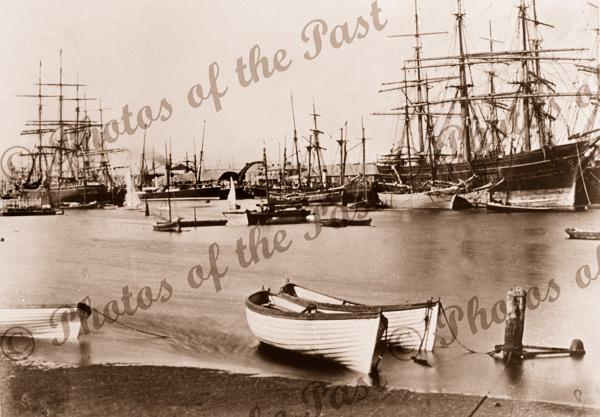 Shipping at Port Adelaide, SA.South Australia. 1878