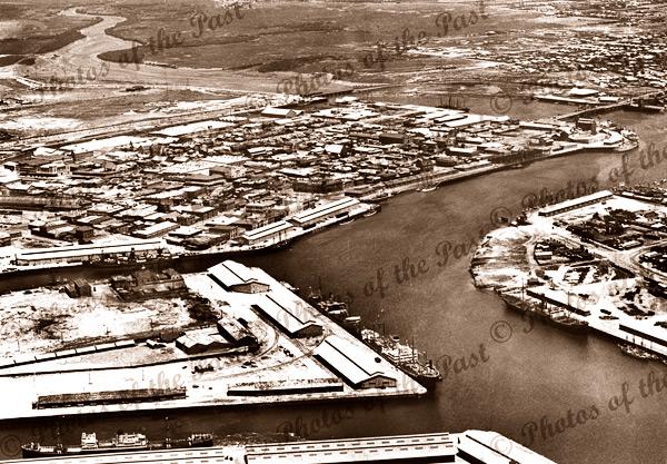 Aerial view of Port Adelaide, SA c1937. South Australia