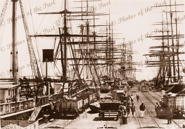 Sandridge Pier, Melbourne, Vic.c1870s. Victoria. Shipping