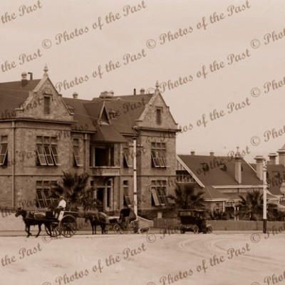 Adelaide Children's Hospital, Nth Adelaide, SA. c1900s. South Australia.Horse & Carriage. Car