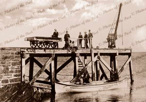 Second Valley jetty, SA c1904 South Australia. Boating
