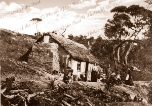 Mining manager's thatched Cottage at Talisker, SA. 1869. South Australia