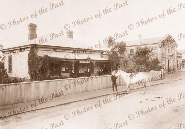 Mitcham Police Station & Institute, SA. c1898. South Australia. Horse