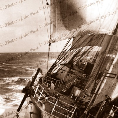 4m barque MOSHULU crossing Great Australian Bight, 1936. shipping