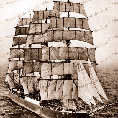 4m Barque PAMIR in English Channel 21 Dec 1947 shipping