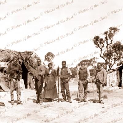 Aboriginies & camp. c1897