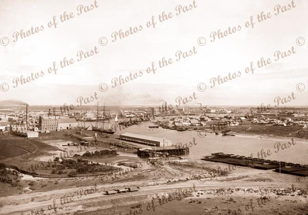 Port Adelaide, Dunn & Co. Flour Mill, Tucker Bridge, SA. South Australia. 1897, shipping
