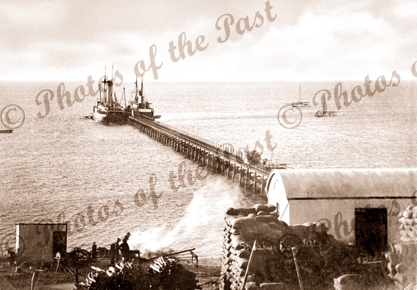 Streaky Bay, SA 1912. South Australia. Jetty, pier