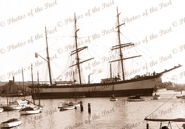 Barque BAUNEN, c1900s, shipping