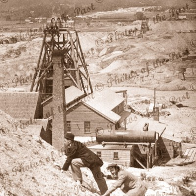 View of mines from Golden Point, Ballarat, Vic.c 1890s. Victoria
