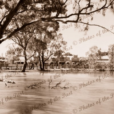 Yarriambiac Creek, Warracknabeal, Vic. 1930s, river, flood, Victoria