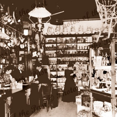 Interior of General Store, Millicent, SA, c1900. South Australia