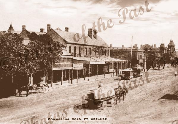 Commercial Rd, Pt Adelaide, SA. c1890s. South Australia. horse & cart