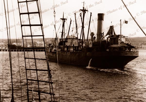 SS OORAMA, Pt Lincoln, SA. c1946. South Australia.. Steam Ship. Shipping