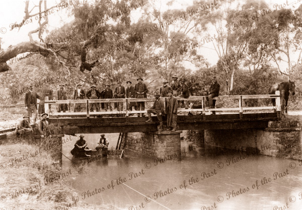 Myponga Creek bridge collapse (on road to Victor Harbor), SA. 1917. River. South Australia