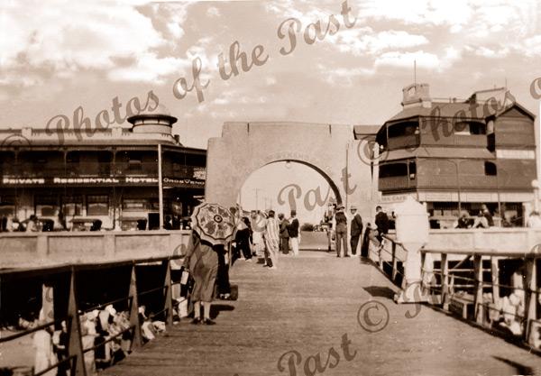 Brighton, SA. South Australia. 1928. Jetty, Pier, foreshore