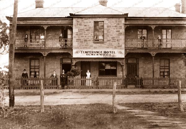 Temperance Hotel, Blackwood, SA. 1908. South Australia. Pub
