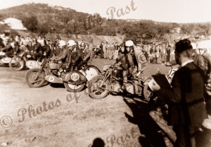 Motor bike racing, Sleeps Hill, SA. 1949. South Australia