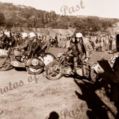 Motor bike racing, Sleeps Hill, SA. 1949. South Australia