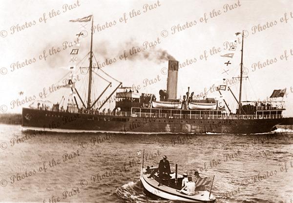 SS RUPARA shipping. c1910. steam ship