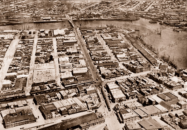 Aerial view of Port Adelaide incl. St Vincent St. SA. 1928. South Australia
