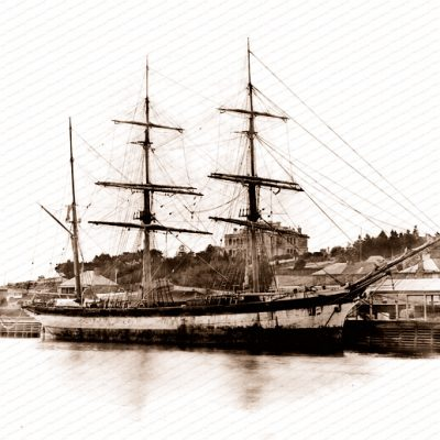 3m Barque OBERON at Hobart, Tasmania. Built 1878