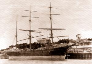 3m Barque BARFOD at Hobart, Tasmania. Built 1882