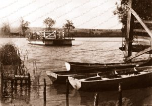 Mannum ferry, SA. Murray River. South Australia. c1917