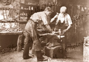 Blacksmiths at work, Clarendon, SA. 1896. South Australia
