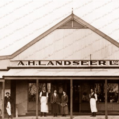 A.H. Landseer Ltd. River shipping office at Waikerie, SA. South Australia. 1916