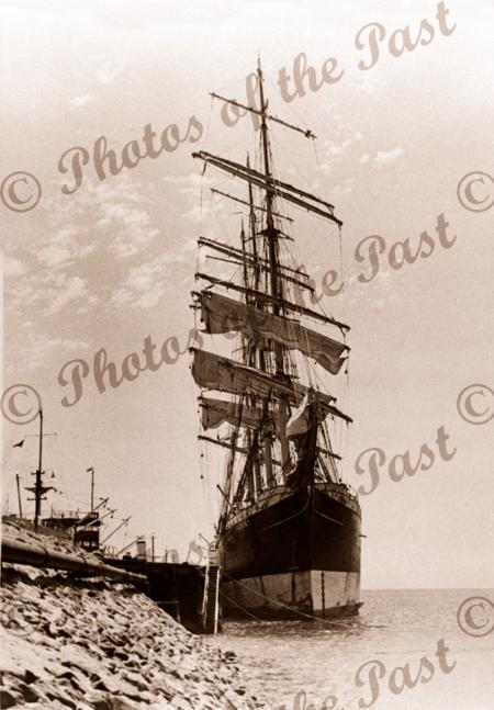 4m barque PASSAT at Port Lincoln, SA. Shipping. South Australia 1937