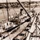 MV MINNIPA at Brennan's Jetty, Port Lincoln, SA. 1950s. South Australia